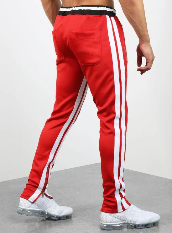 product-Double Striped Track Pants V2 in Black and Red RTM-268-Ruiteng-img