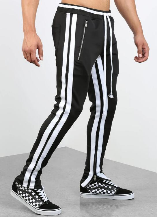product-Ruiteng-Double Striped Track Pants V2 in Black and Red RTM-268-img