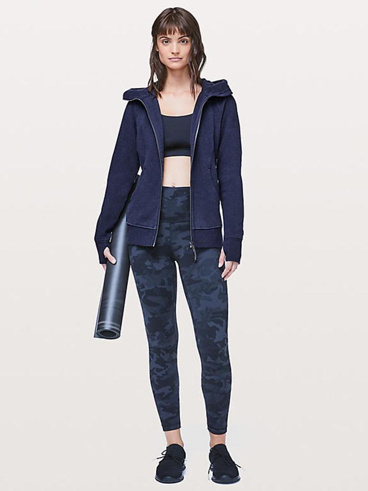 product-Ruiteng-Autumn winter new sports fleece hoodie hoodie yoga fitness jacket-img