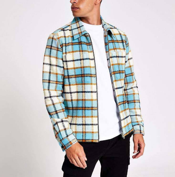 Mens fit zip overshirt RTM-244