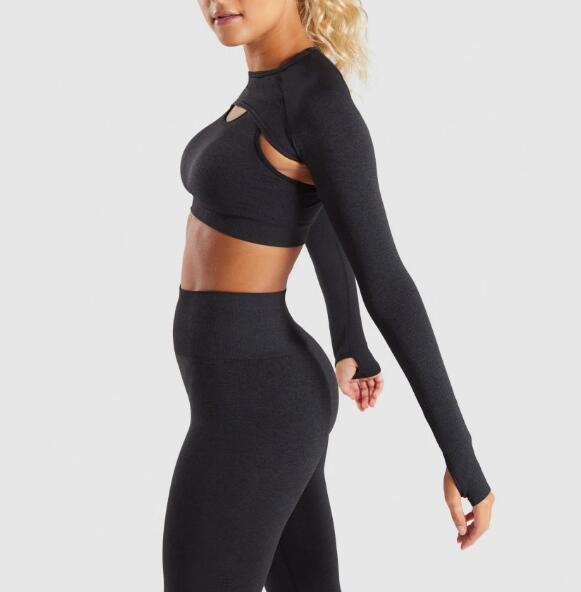 Womens black yoga wear RTM-219