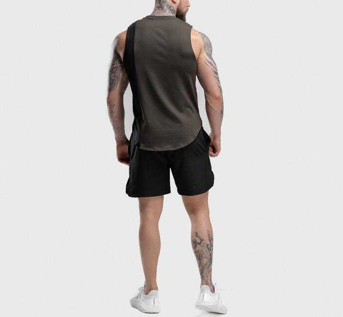 Mens light color sleeveless hoodie RTM-216