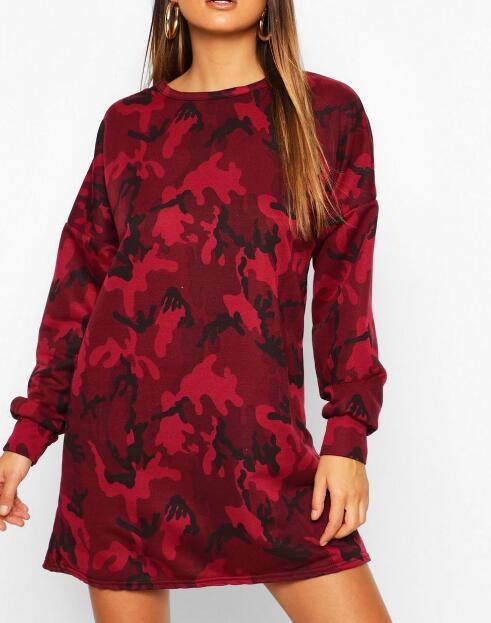 product-Camo Loopback Sweat Dress-Ruiteng-img