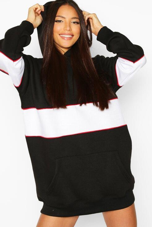 product-Ruiteng-Panel Sweatshirt Dress Women-img