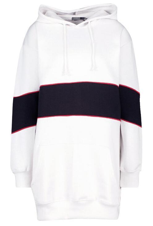 product-Ruiteng-Hooded Contrast Panel Sweatshirt Dress RTM-213-img