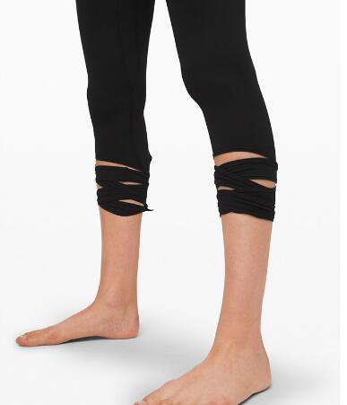 Ladies cross design seven-point tan lili slimming sweatpants