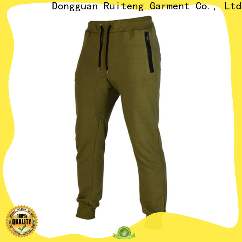 Ruiteng mens black jogger pants Suppliers for gym