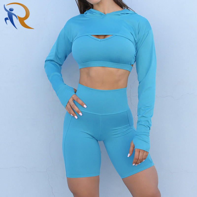 Women Fashion Quick Dry Fitness Gym Sportswear Yoga Set
