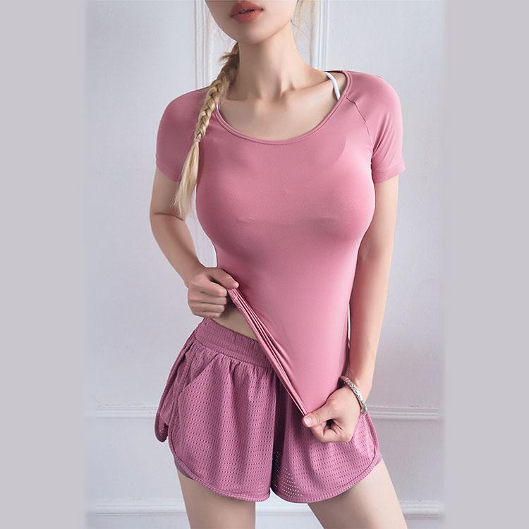 product-Women Mesh Workout Yoga Fitness Wear Yoga Short with Inside Pocket-Ruiteng-img
