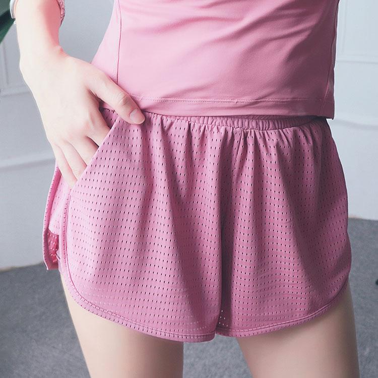 product-Ruiteng-Women Mesh Workout Yoga Fitness Wear Yoga Short with Inside Pocket-img
