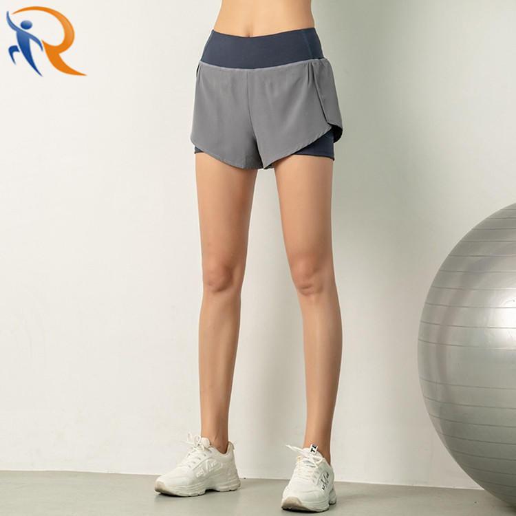 Women Workout Fashion Yoga Fitness Gym Wear Yoga Short with Inside Pocket