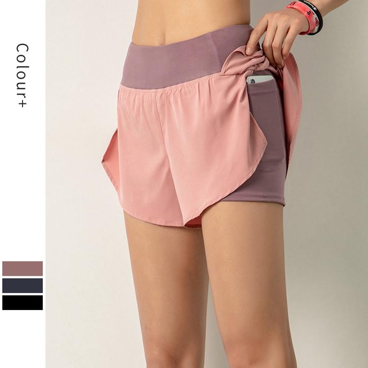 product-Ruiteng-Women Workout Fashion Yoga Fitness Gym Wear Yoga Short with Inside Pocket-img