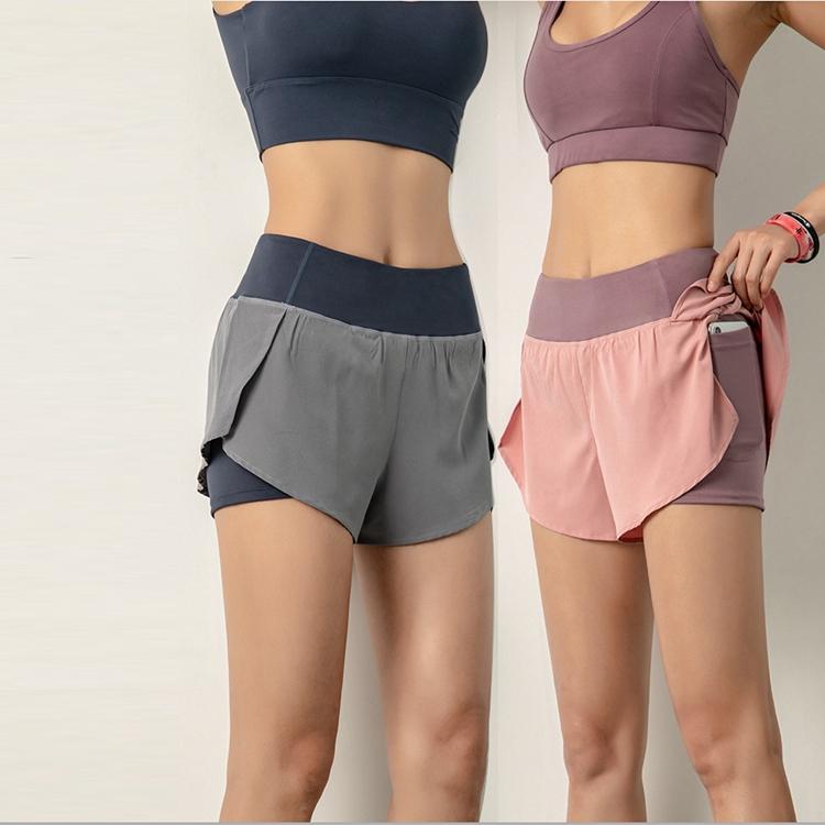 product-Women Workout Fashion Yoga Fitness Gym Wear Yoga Short with Inside Pocket-Ruiteng-img