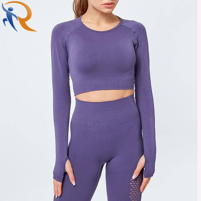 Women New Fashion Yoga Active Fitness Pure Color Yoga Set