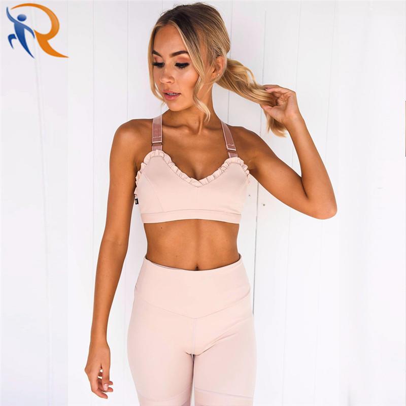 Women Fashion Sexy Slim Gym Wear Yoga Bra Leggings Workout Fitness Set Yoga Set