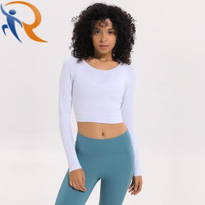Women Gym Wear Fitness Long Sleeve Yoga Crop Top