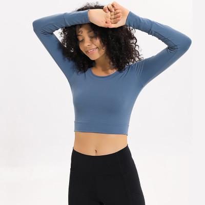 product-Women Gym Wear Fitness Long Sleeve Yoga Crop Top-Ruiteng-img