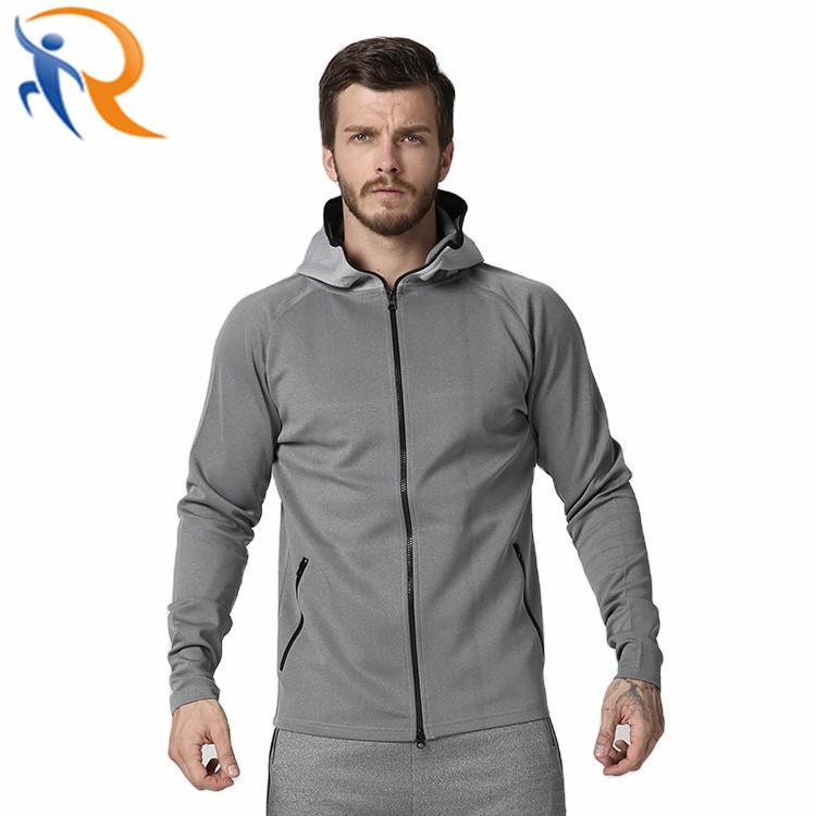 Men Sportswear Gym Coat with Zipper Fitness Hoodies