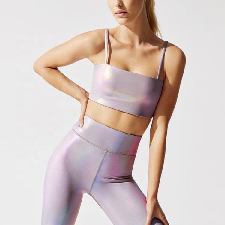 product-New Fashion Luminous Color Printed Bra and Leggings Yoga Set for Women-Ruiteng-img