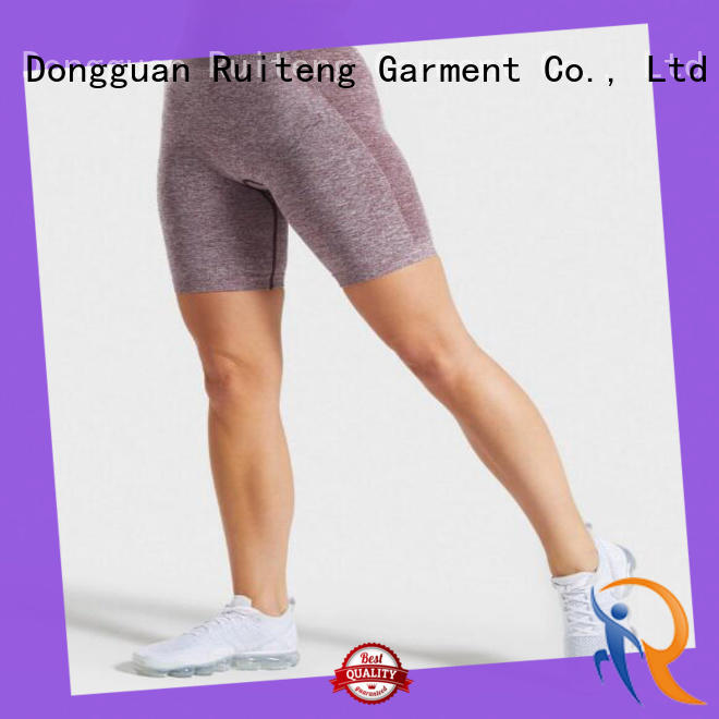 Ruiteng top quality striped shorts womens company for sports