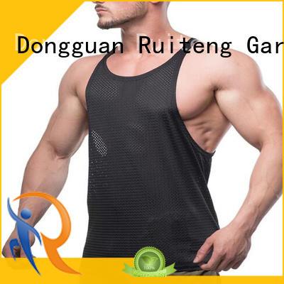 Ruiteng oem mens muscle tank tops manufacturers for walk