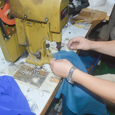 Button fixing