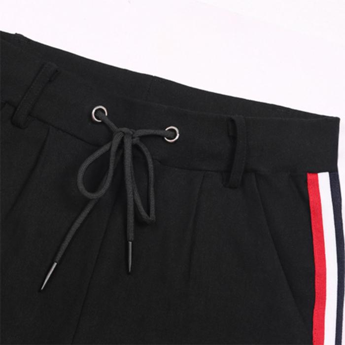 Ruiteng-Oem Wholesale Side Contrast Color Stripe Slim High Waist-3
