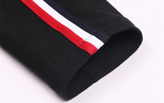 Ruiteng-Oem Wholesale Side Contrast Color Stripe Slim High Waist-4