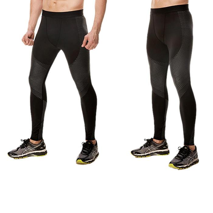 Workout Men Compression Leggings Fitness Black Sports Tight Pants-RTA187