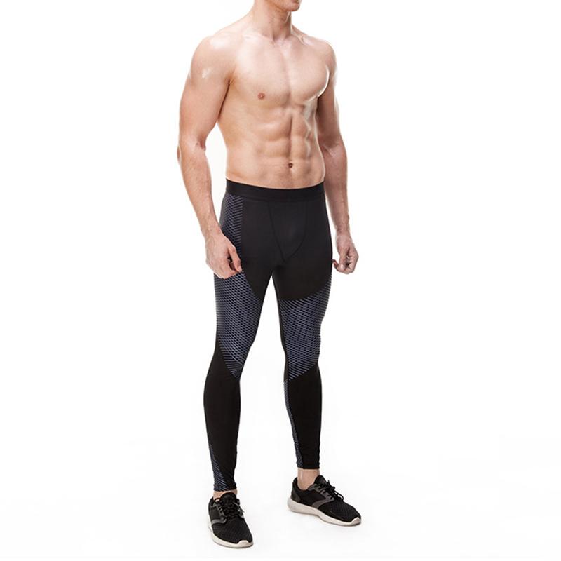 Ruiteng-High-quality Workout Men Compression Leggings Fitness Black