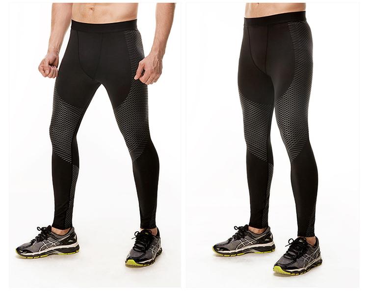 Ruiteng-High-quality Workout Men Compression Leggings Fitness Black-2
