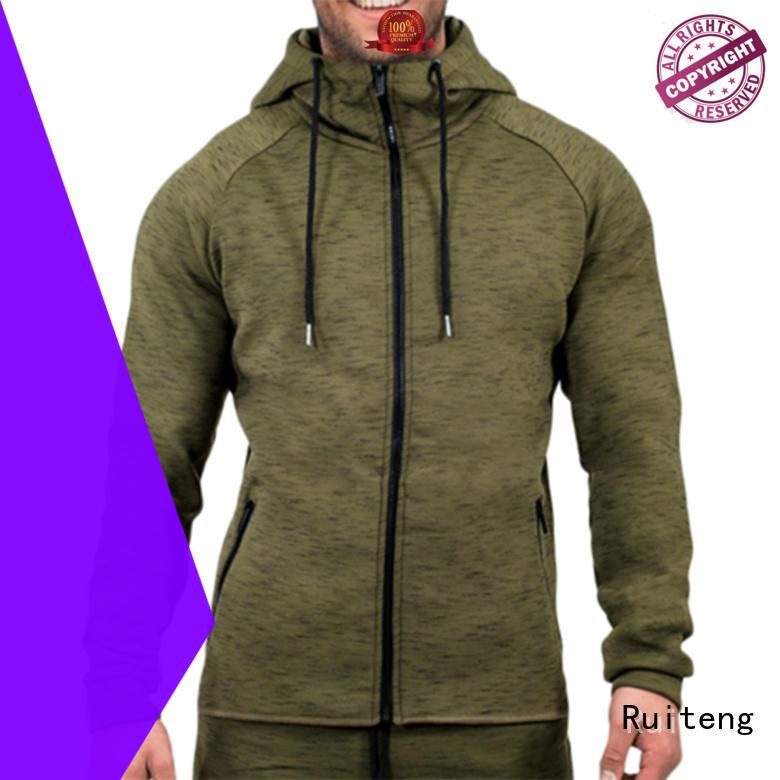 fleece soft basic sweatshirt embroidery pullover Ruiteng Brand