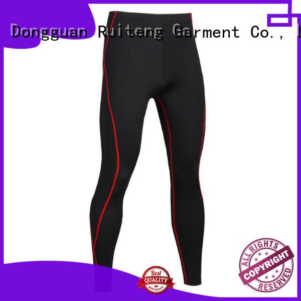 fitness Custom black best gym leggings oem Ruiteng