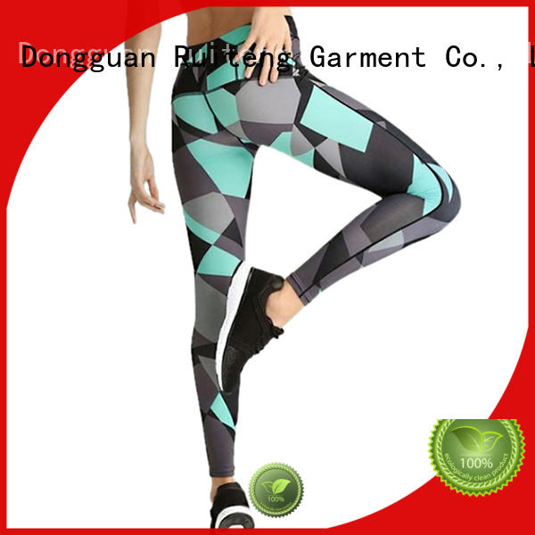 sublimation women yoga sports Ruiteng Brand best gym leggings supplier