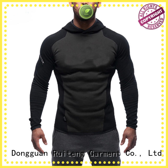 Ruiteng half stylish hoodies factory price for sports