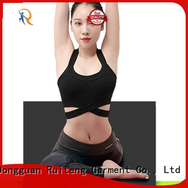 workout stretchy gym bra womens strap Ruiteng company